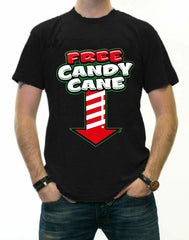 Christmas Tee's - Free Candy Cane Men's T-Shirt