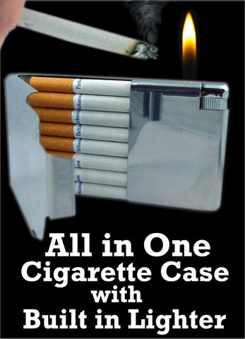 Cigarette Case With Cigarette Lighter (For Regular Size Only)