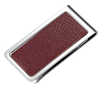 Classic Brown Leather Money Clip