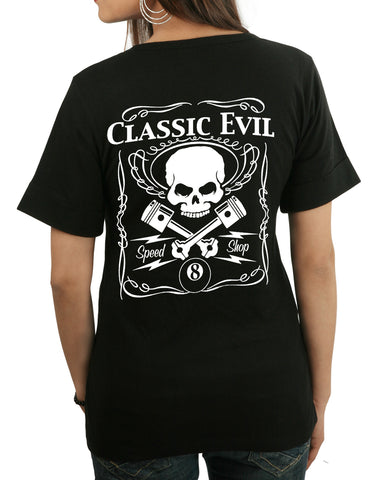 Classic Evil Biker Ladies T-shirt