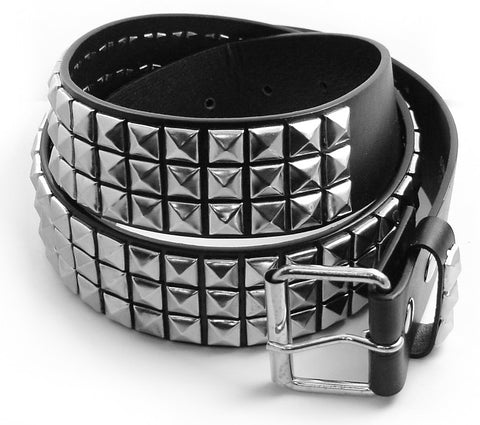Classic Pyramid Studded Leather Belt