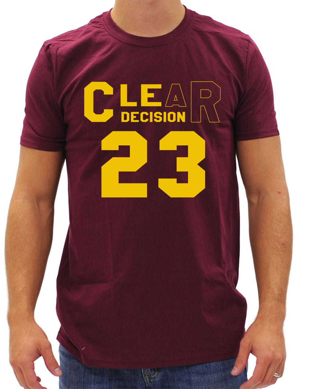 CLEar Decision #23 Lebron Cleveland  Men's T-Shirt