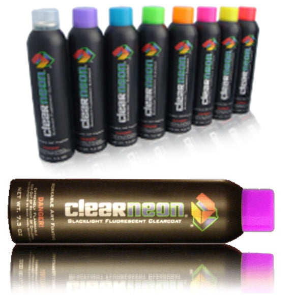 Clear Neon Magic Invisible UV Reactive Spray Paint For Household and Clothing