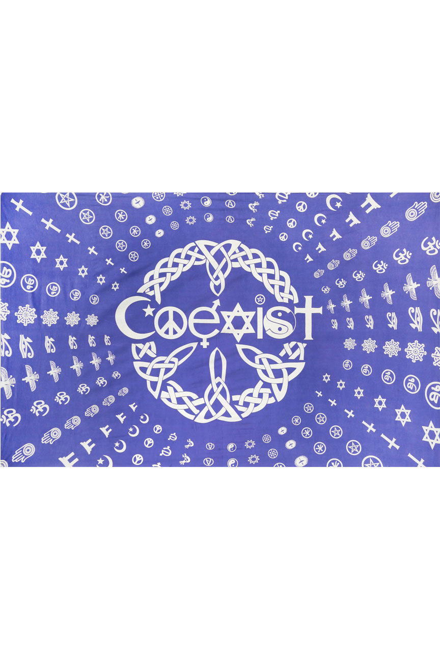 Coexist Tapestry 60 x 90""