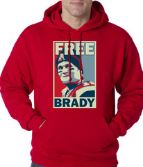 Color Free Brady Deflategate Football Adult Hoodie