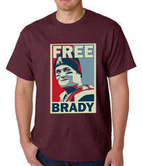 Color Free Brady Deflategate Football Mens T-shirt