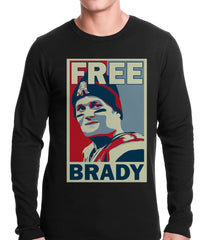 Color Free Brady Deflategate Football Thermal Shirt