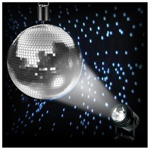 Complete Mirror Ball Party Pack with Spotlight  &  Motor