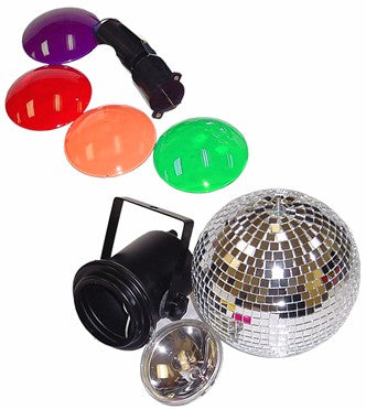 Complete Mirror Ball Spotlight  &  Motor