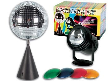 Complete Rotating Disco Mirror Ball Kit