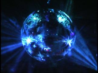 Complete Rotating Disco Mirror Ball Kit Blue