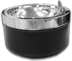 Contemporary Chrome Self Cleaning Floor Stand Ashtray