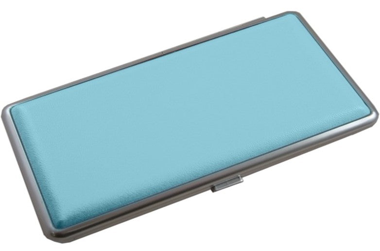 Contemporary Leather Cigarette Case  Light Blue