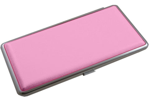 Contemporary Leather Cigarette Case Pink