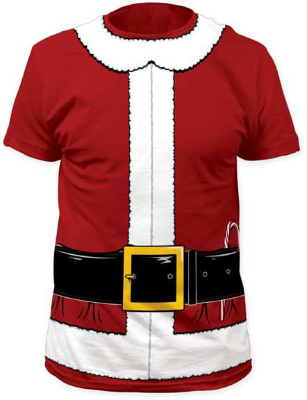 b924a4f811 Costume Shirts - Santa Clause Tuxedo Costume Men's T-Shirt – Bewild