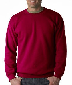 Crew Neck Sweatshirts For Men & Women - Crewneck Sweatshirt (Cherry Red)