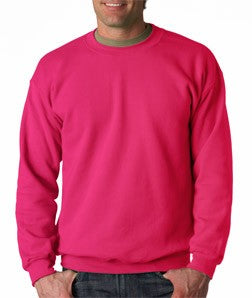 Crew Neck Sweatshirts For Men & Women - Crewneck Sweatshirt (Heliconia Pink)