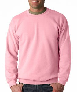 Crew Neck Sweatshirts For Men & Women - Crewneck Sweatshirt (Light Pink)