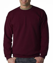 Crew Neck Sweatshirts For Men & Women - Crewneck Sweatshirt (Maroon)
