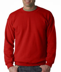 Crew Neck Sweatshirts For Men & Women - Crewneck Sweatshirt (Red)
