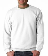 Crew Neck Sweatshirts For Men & Women - Crewneck Sweatshirt (White)