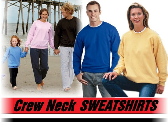 Crew Neck Sweatshirts For Men & Women - Crewneck Sweatshirt (Chocolate Brown)