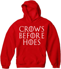 Crows Before Hoes  Adult Hoodie