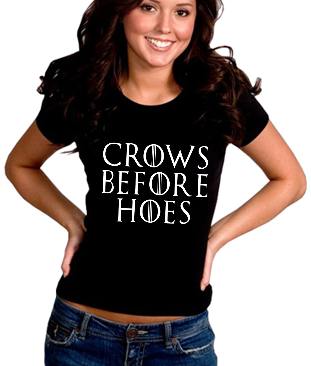 Crows Before Hoes  Girl's T-Shirt