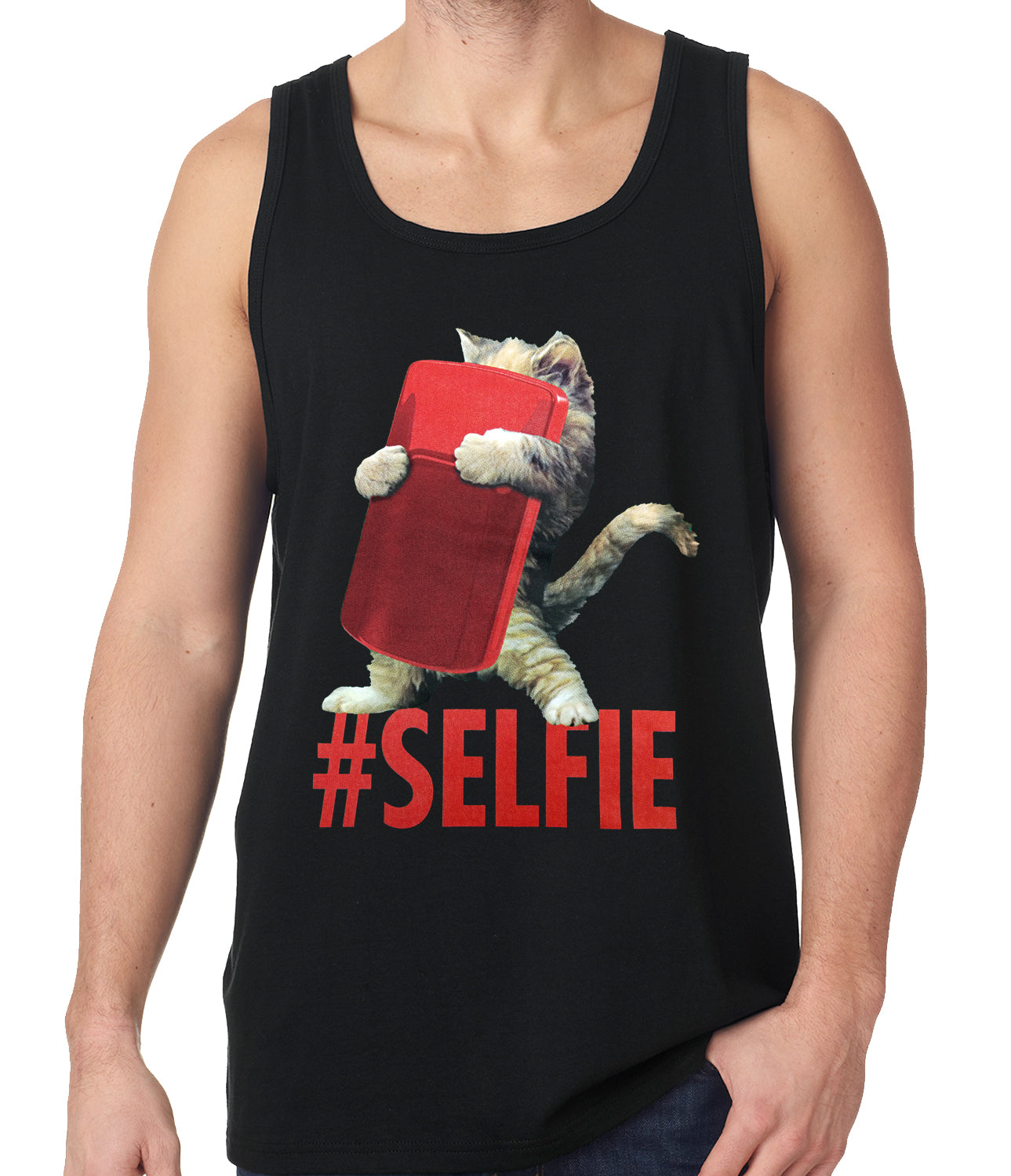 Cute #Selfie Kitten Tank Top