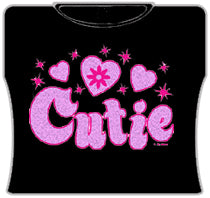 Cutie Girls T-Shirt (Black)