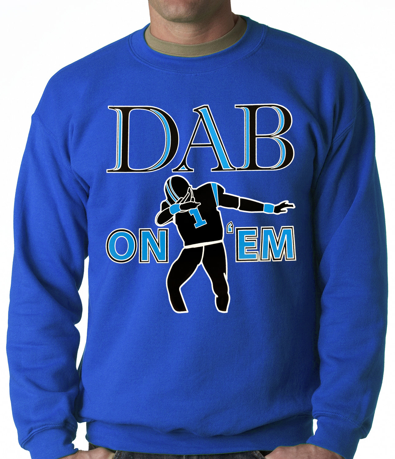 Dab On 'Em Football Player Adult Crewneck