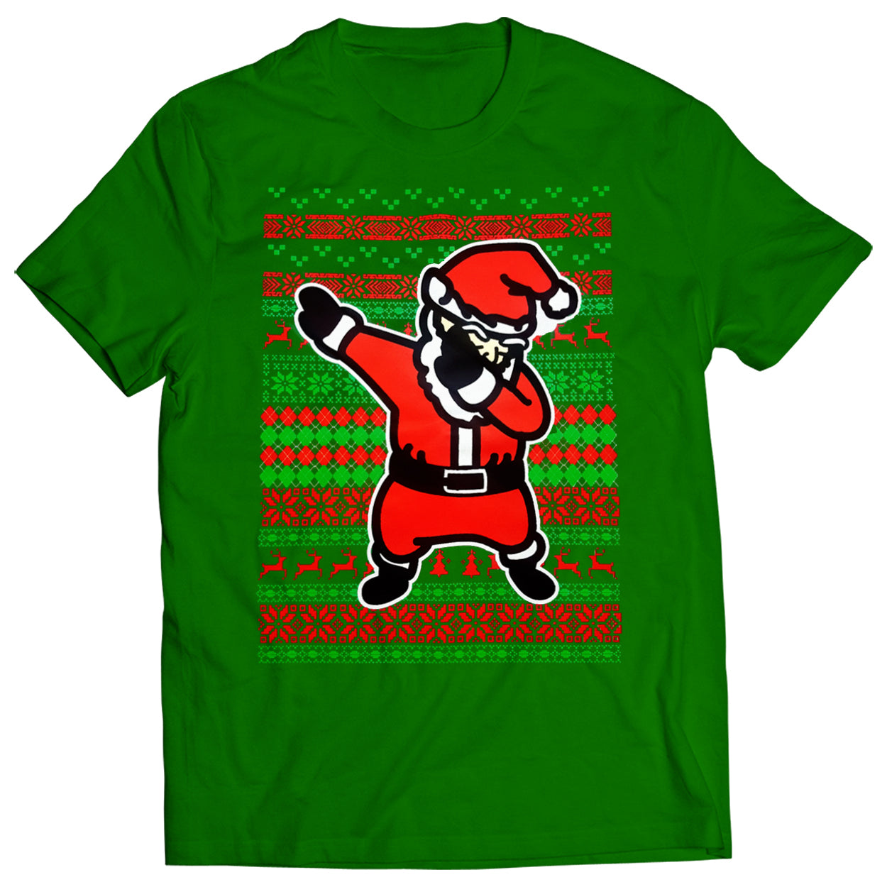 Dabbing Santa Ugly Christmas Mens T-shirt