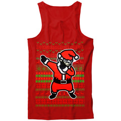 Dabbing Santa Ugly Christmas Tank Top