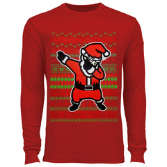 Dabbing Santa Ugly Christmas Thermal Shirt