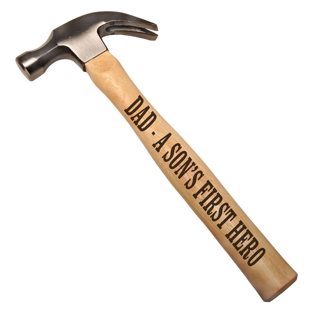 Dad - A Son's First Hero DIY Gift Engraved Wood Handle Steel Hammer