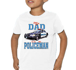 Dads A Policeman Kids T-Shirt