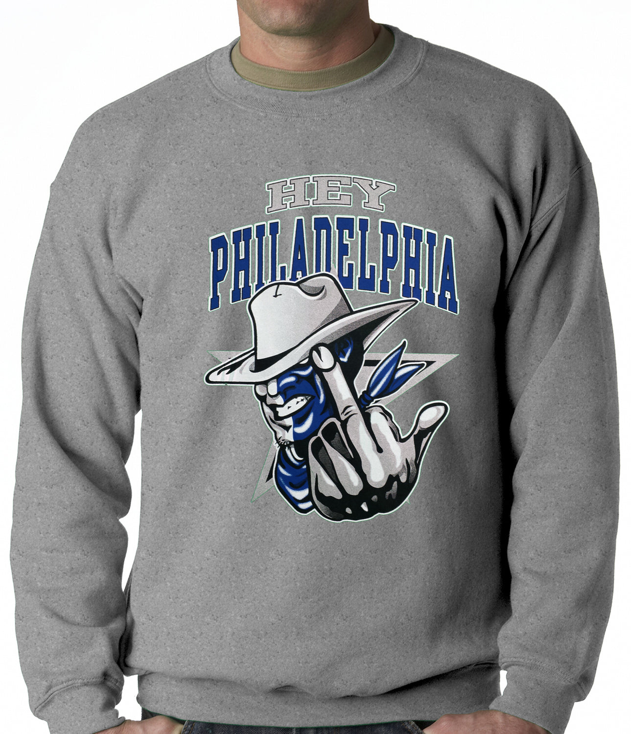 Dallas Fan - Hey Philadelphia Adult Crewneck