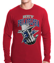 Dallas Fan - Hey Philadelphia Thermal Long Sleeve Shirt Red