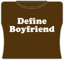 Define Boyfriend Girls T-Shirt (Brown)