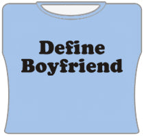 Define Boyfriend Girls T-Shirt (Lt Blue)