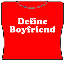 Define Boyfriend Girls T-Shirt (Red)