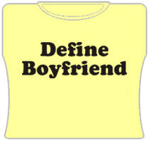 Define Boyfriend Girls T-Shirt (Yellow)