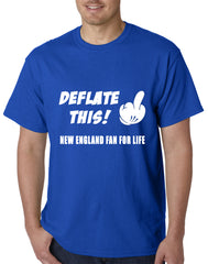 Deflate This! Middle Finger New England Fan For Life Mens T-shirt