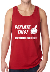 Deflate This! Middle Finger New England Fan For Life Tank Top