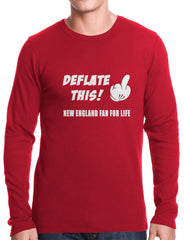 Deflate This! Middle Finger New England Fan For Life Thermal Shirt