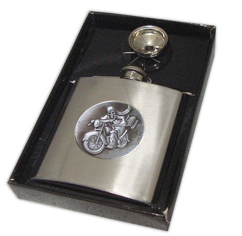 Deluxe 7 oz Stainless Steel Biker Flask