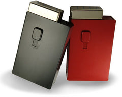 Deluxe Auto Dispenser Cigarette Case with Built-In Lighter