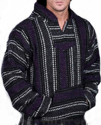 Deluxe Baja - Original Mexican Baja Hoodie (Black/Purple)