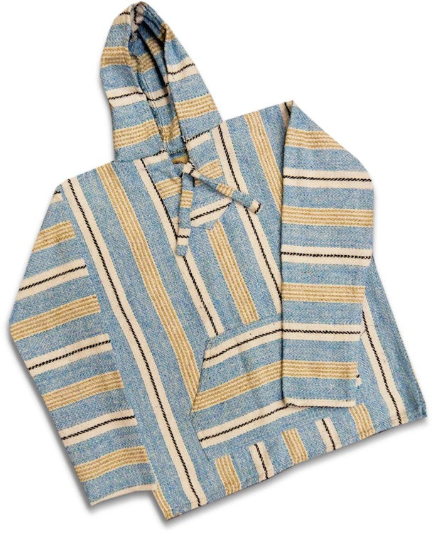 Deluxe Baja - Original Mexican Baja Hoodie (Light Blue / Khaki)