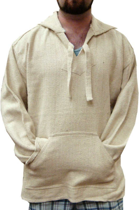 Deluxe Baja - Original Mexican Baja Hoodie (Natural Cotton)